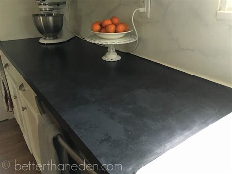 Soapstone Laminate Countertop by Better Than A Faux Soapstone Painted Countertop