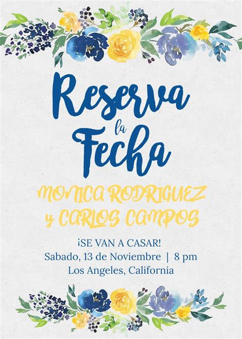 save date reserva la fecha spanish wedding espanol
