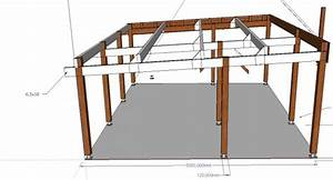carport 6mx5m With ordinary plan maison en pente 7 carport en bois adosse toit en pente