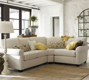 sectional sofa pottery barn pearce leather 3 piece With small sectional sofa pottery barn