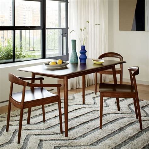 lena mid century dining table large west elm