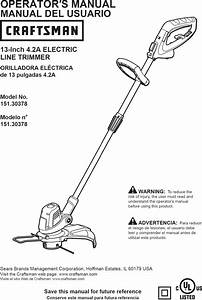 Craftsman 15130378 User Manual Trimmer Manuals And Guides