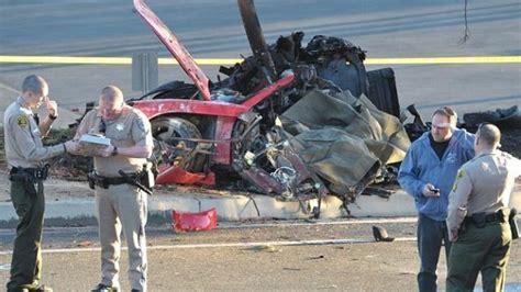 Fast and Furious actor Paul Walker dies in a horrific car