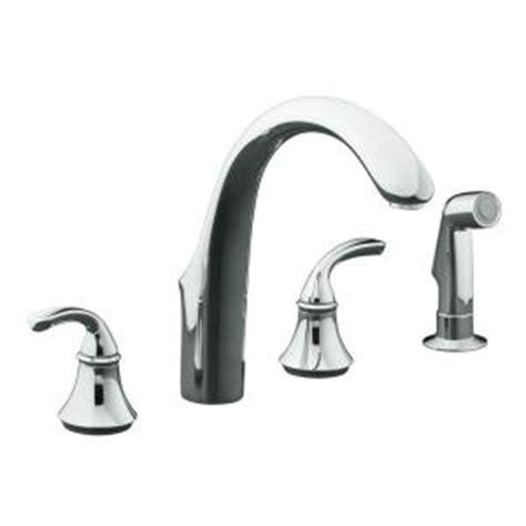 Kohler Forte Kitchen Faucet Home Depot by Kohler Forte 8 In 2 Handle Standard Kitchen Faucet With