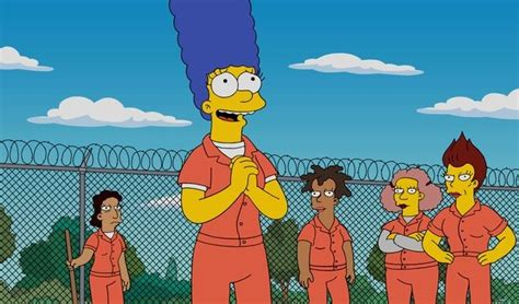 simpsons marge  jail  orange    black
