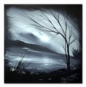 Landscape 121 black and white abstract art landscape ...