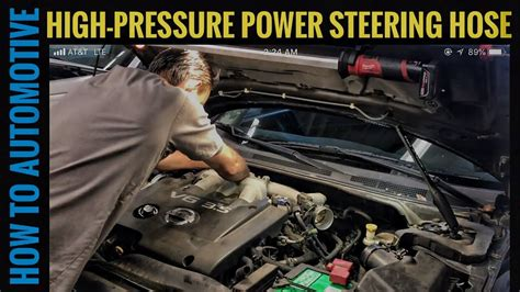 How Replace The High Pressure Power Steering Hose