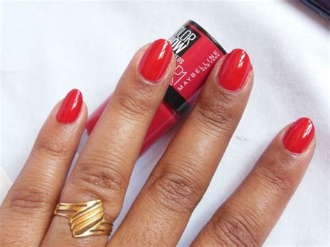 maybelline color show big apple reds nail paint paint