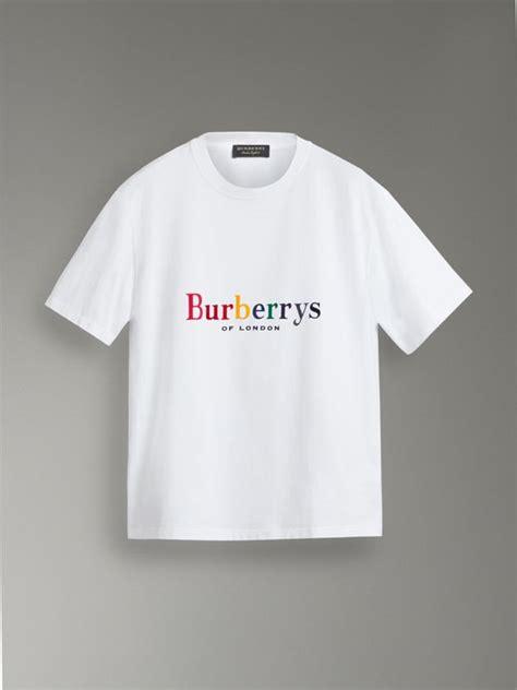 reissued cotton  shirt  rainbow women burberry united states