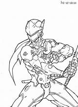 Overwatch Coloring Genji Coloriage Drawing Sketch Adult Splatoon Deviantart Colorir Draw Colouring Sheets Drawings Sketches Kaito Cool Largement Sketchite Goku sketch template