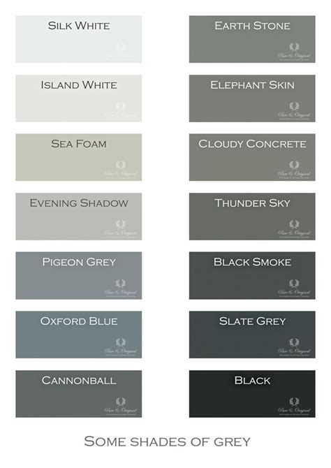 Color Shades Of by I Gray Shades Of Grey Chalk Paint Lime Paint