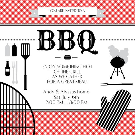 bbq essentials bbq party invitation template