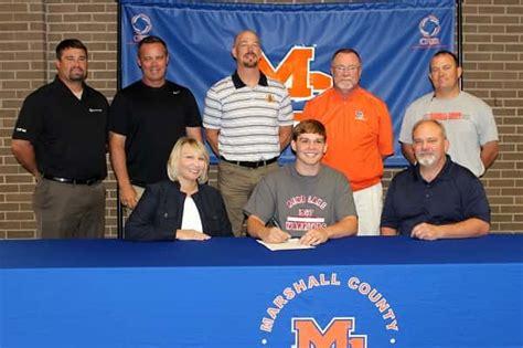 cody clark signs rend lake college play baseball marshall