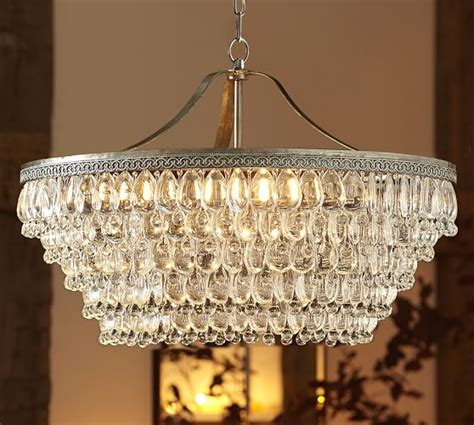 clarissa drop chandelier pottery barn