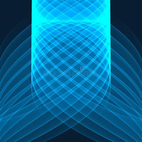 Abstract Background Bright Blue Lines On The Dark Blue