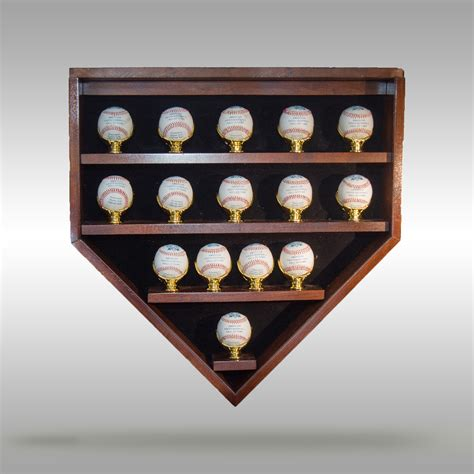 home plate baseball display case cooperstown bat company