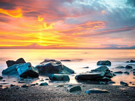 long exposure photo  beach  morning hd wallpapers