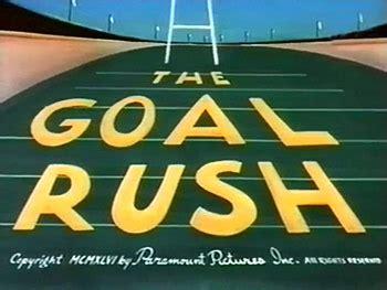 goal rush  noveltoons theatrical cartoon series
