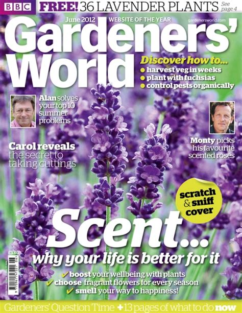 scratch and sniff gardening magazine cover smells like
