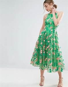 ASOS | ASOS SALON Floral Embroidered Backless Pinny Midi ...