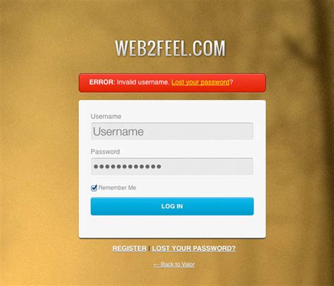 Custom Wordpress Login Page Psd