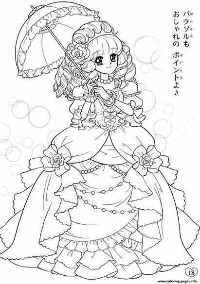 Coloring Pages Anime Manga Adults Colouring Kawaii