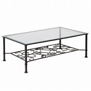 Table Basse Fer Forgé : table basse en verre et fer mobilier design d coration d 39 int rieur ~ Teatrodelosmanantiales.com Idées de Décoration