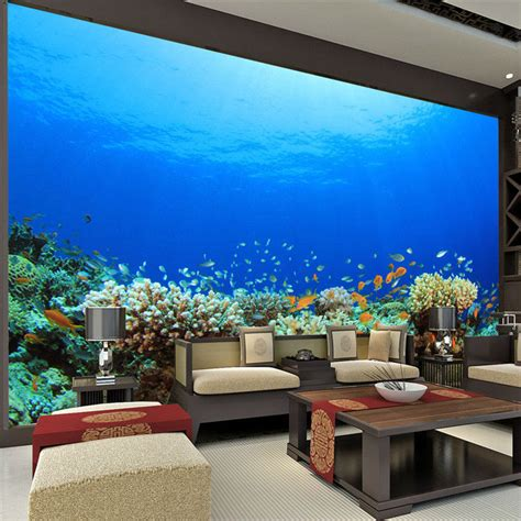 large size custom wallpaper ocean coral photo wallpaper