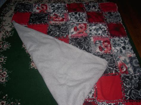 no sew quilt another no sew rag quilt thingy lots of pics now with