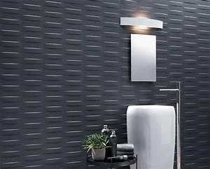 panneau mural decoratif en 3d mettez en valeur vos murs With salle de bain design avec panneau décoratif en métal