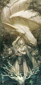 White dragon and lady Dragons!!!! Pinterest
