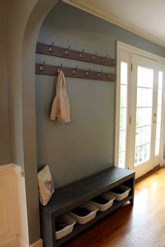 diy coat rack bench 1000 images about entry area on coat racks