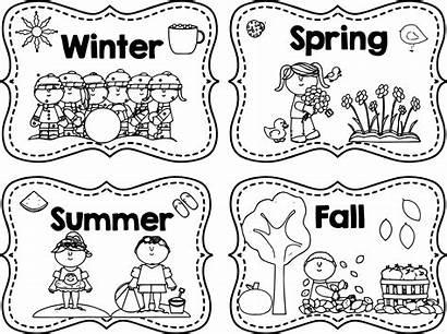 Seasons Coloring Pages Four Greetings Printable Getcolorings
