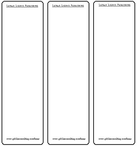 llp blank bookmarks