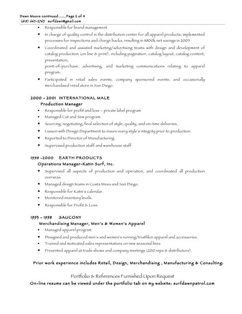 Apparel Sourcing Manager Resume by Resume