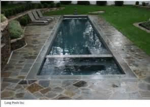 Small Lap Pool and Hot Tub