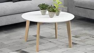 Table Basse Blanche Ronde : table basse ronde style scandinave blanche collection molina homifab ~ Teatrodelosmanantiales.com Idées de Décoration