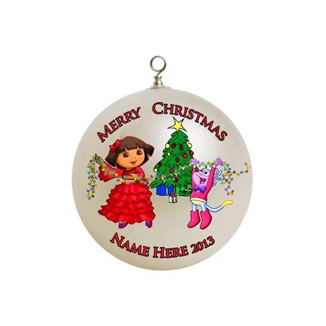 personalized dora the explorer christmas ornament 5