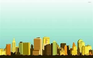 City skyline wallpaper - Vector wallpapers - #26532
