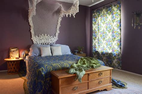 eclectic bedroom with hanging bed is light 65 refined boho chic bedroom designs digsdigs
