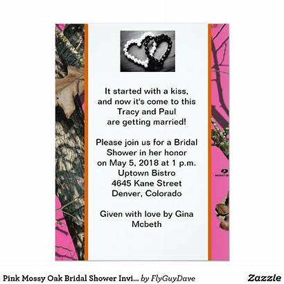 Zazzle Mossy Oak Invitation Bridal Shower Invitations