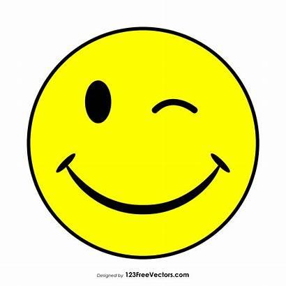 Smiley Face Vector Wink Emoji Smily Clip