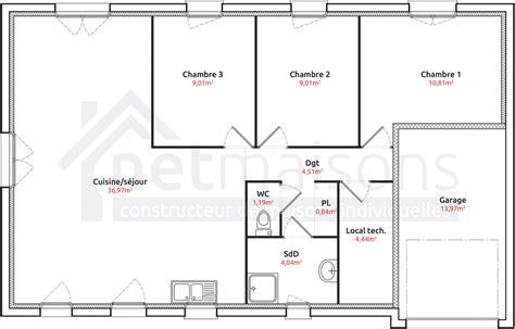 Plan Maison 2 Chambres - plan de maison 2 chambres plan maison 2 chambres plain
