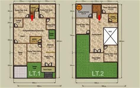 desain rumah minimalis  lantai luas tanah  gambar