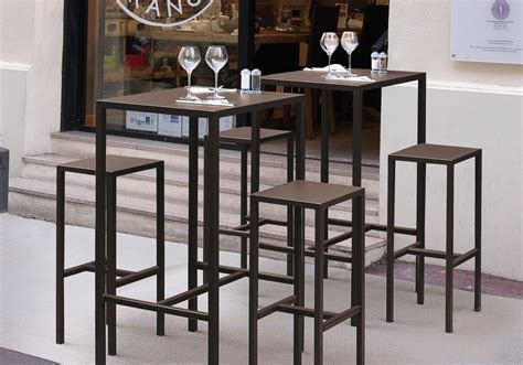 chaise mange debout high table quadrix vlaemynck