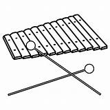 Xylophone Coloring Pages Clipart sketch template