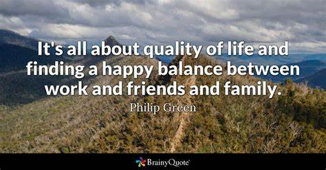 The Quality Of Life There Is Lovely