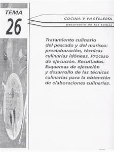 Tema 26 Tratamiento Culinario De Pescado Y Marisco