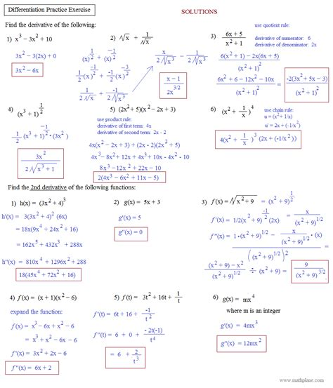 product rule for derivatives worksheet worksheets for all