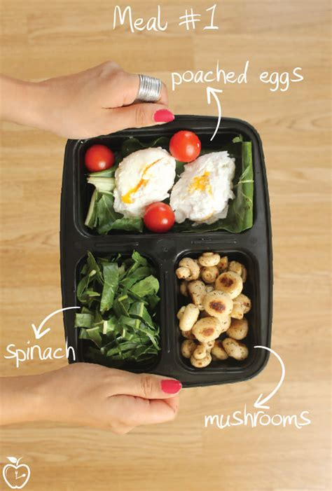 meal prep healthy ready eat meals protein go containers days food recipes mushrooms eggs recipe idea easy spinach